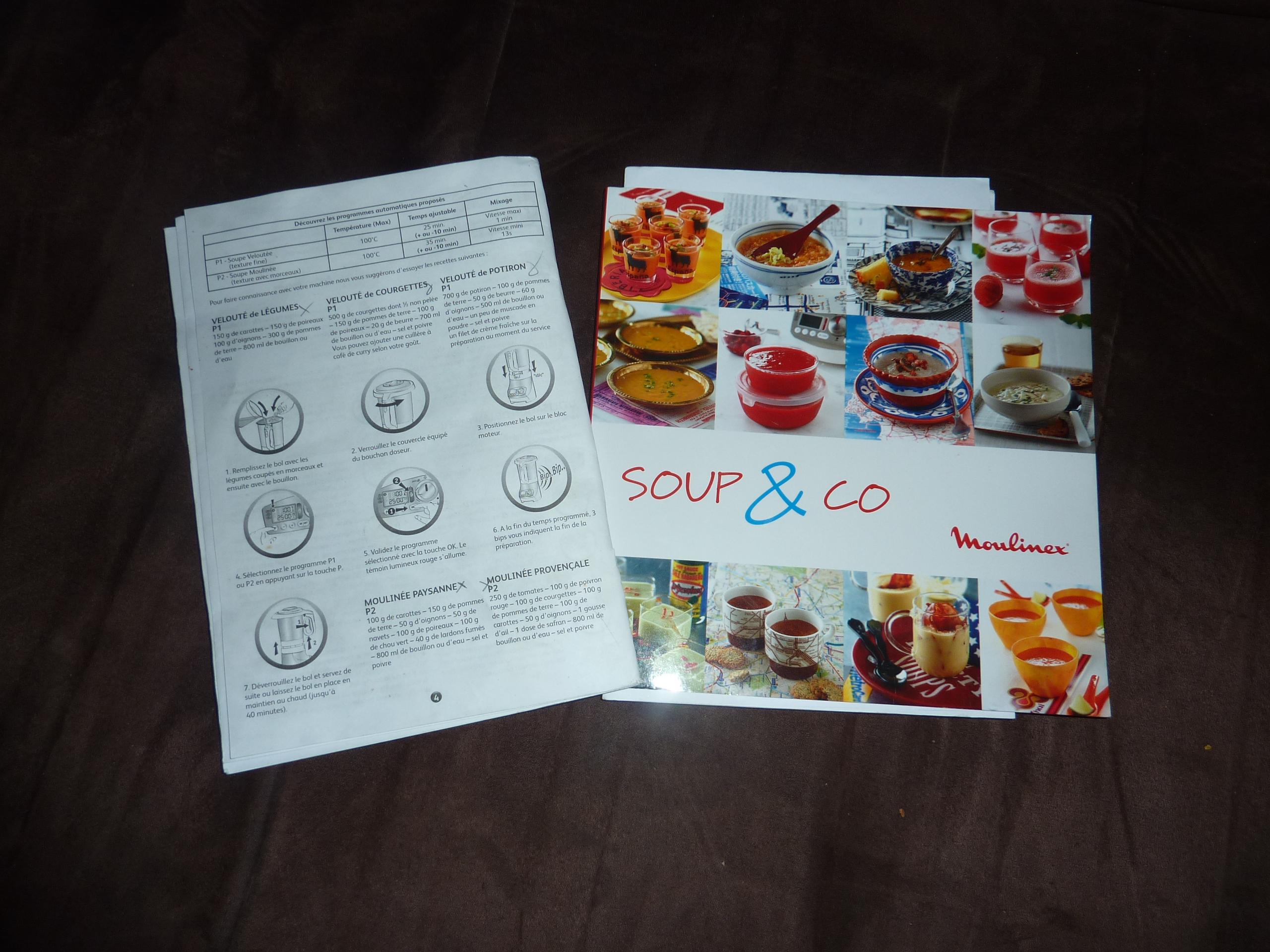 Livre de recette soup and co - Recette moulinex soup and co ...