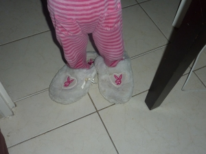 Puce et mes chaussons!