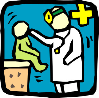 La traditionnelle visite des 4 mois chez le pédiatre... (2/3)
