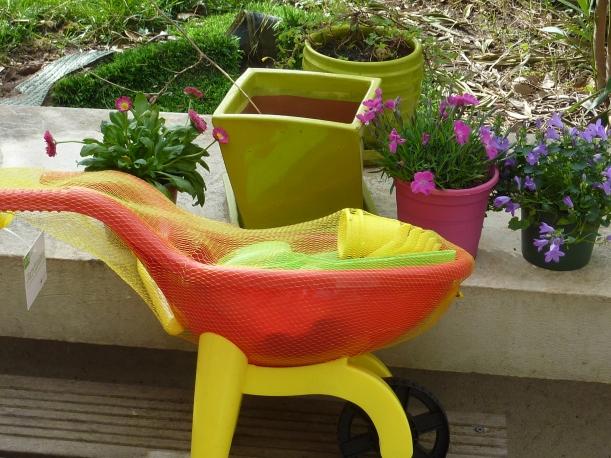 Préparation de l'activité jardinage.