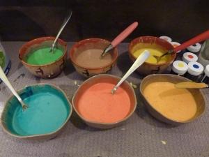 Les couleurs des 6 génoises.