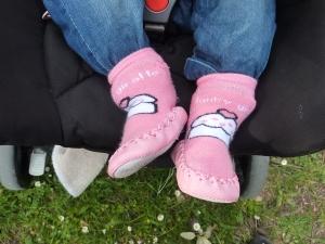Les chaussons cupcake en balade au parc.
