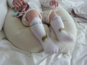 Les Chaussettes en mouvement, elles ne glissent pas de la cheville.