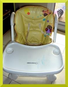 La chaise haute magnifique de Puce.