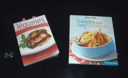 Mes livres de recettes de légumes faciles.