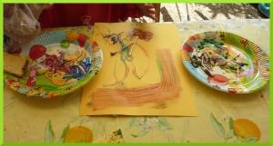 Peindre avec du coton tige.