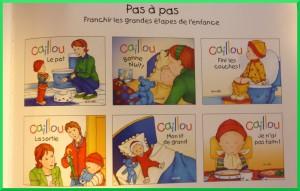 Les apprentissages avec Caillou.