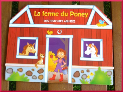 La ferme du poney, livre animé.