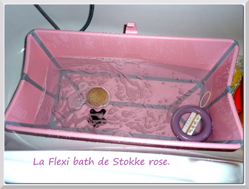 Test baignoire: la Flexibath de Stokke, rose. (1/4)