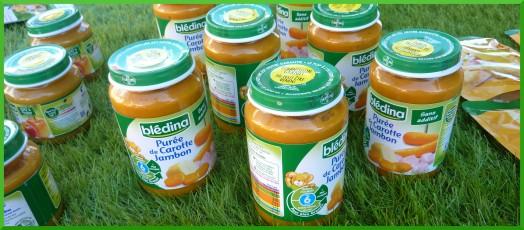 Purée de carotte jambon,dès 6 mois.
