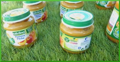 Compote pomme pêche,dès 4/6 mois.100% fruits.