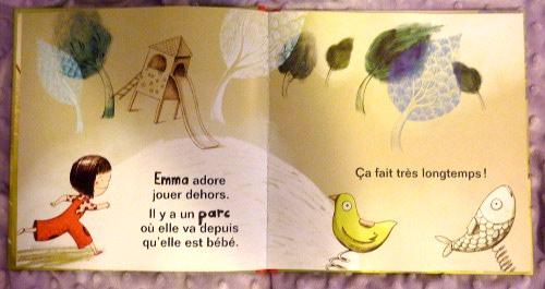 Des illustrations dans les tons verts.
