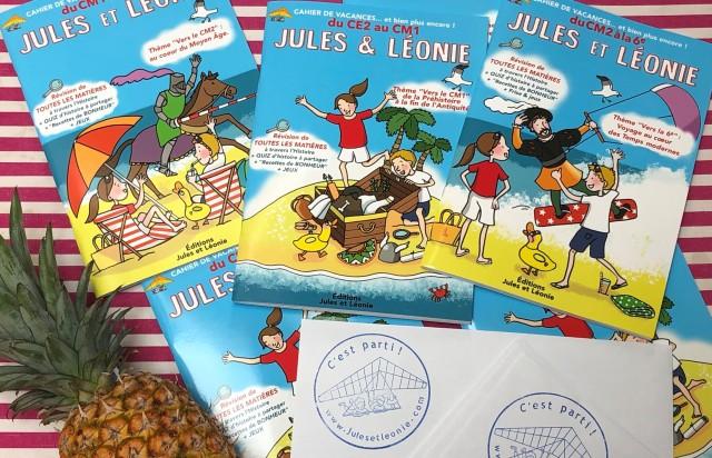 Les cahiers de vacances Jules et Léonie sont arrivés 2019.jpg